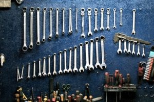 wrenches lined up